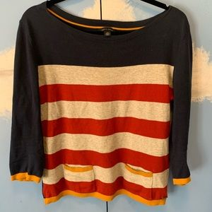 Tommy Hilfiger 3/4 sleeve Striped Sweater